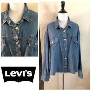 LEVIS RAW EDGE SHORT JEAN SHIRT/jacket XL